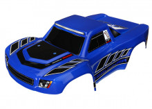 TRAXXAS запчасти Body, LaTrax® Desert Prerunner, blue (painted): decals