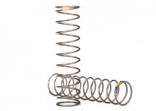 TRAXXAS запчасти Springs, shock (natural finish) (GTS) (0.22 rate, yellow stripe) (2)