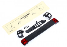 TRAXXAS запчасти Tailgate panel: tailgate retainers (2): tailgate mount: tail light lens (2) (left & right): 2.5x