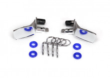 TRAXXAS запчасти Mirrors, side, chrome (left & right): o-rings (4): body clips (4) (fits #8130 body)