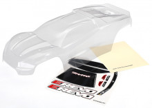 TRAXXAS запчасти Body, E-Revo® (clear, requires painting): window, grille, lights decal sheet