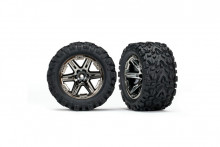 TRAXXAS запчасти RXT black chrome wheels + Talon Extreme 2.8""
