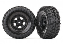 """TRAXXAS запчасти  Tires and wheels, assembled, glued (TRX-4® Sport 1.9"""" wheels, Canyon Trail 4.6x1.9"""" tires) (2)"""