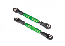 TRAXXAS запчасти Camber links, front (TUBES green-anodized, 7075-T6 aluminum, stronger than titanium) (83mm) (2)/ rod ends (4)/ aluminum wrench (1)