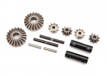 TRAXXAS запчасти Gear set, differential (output gears (2)/ spider gears (4)/ spider gear shaft (2)/ output shaft (2)/ 2.5X13.8 pin (2))