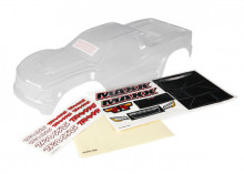TRAXXAS запчасти Body, Maxx® (clear, untrimmed, requires painting)/ window masks/ decal sheet