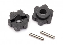 TRAXXAS запчасти Wheel hubs, hex (2)/ 2.5x12 pins (2)