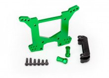 TRAXXAS запчасти Shock tower, rear, 7075-T6 aluminum (green-anodized) (1)/ body mount bracket (1)
