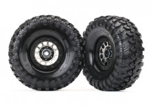 "TRAXXAS запчасти Tires and wheels, assembled (Method 105 black chrome beadlock wheels, Canyon Trail 1.9"" tires, foam inserts) (1 left, 1 right)"