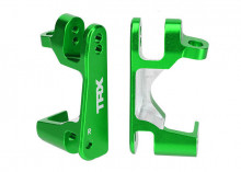 TRAXXAS запчасти Caster blocks (c-hubs), 6061-T6 aluminum (green-anodized), left & right