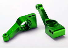 TRAXXAS запчасти Carriers, stub axle (green-anodized 6061-T6 aluminum) (rear) (2)