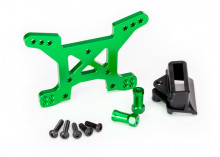 TRAXXAS запчасти  Shock tower, front, 7075-T6 aluminum (green-anodized) (1)/ body mount bracket (1)