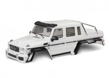 TRAXXAS запчасти  Body, Mercedes-Benz® G 63®, complete (pearl white) (includes grille, side mirrors, door handles, & windshield wipers)