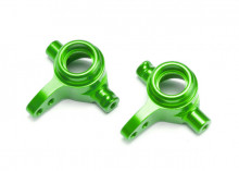 TRAXXAS запчасти Steering blocks, 6061-T6 aluminum (green-anodized), left & right
