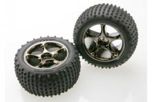 TRAXXAS запчасти Tracer black chrome 2.2 + Alias tires