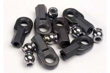 TRAXXAS запчасти Rod ends, long (6): hollow ball connectors (6)
