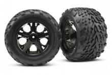 TRAXXAS запчасти All-Star black chrome wheels + Talon tires