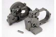 TRAXXAS запчасти Gearbox halves (l&r) (grey) w: idler gear shaft
