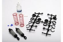 TRAXXAS запчасти Ultra Shocks (grey) (long) (complete w: spring pre-load spacers & springs) (2)