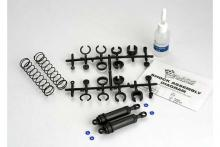 TRAXXAS запчасти Ultra Shocks (black) (xx-long) (complete w: spring pre-load spacers & springs) (rear) (2)