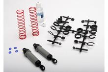 TRAXXAS запчасти Ultra Shocks (grey) (xx-long) (complete w: spring pre-load spacers & springs) (rear) (2)