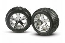 TRAXXAS запчасти All-Star chrome wheels + Alias tires