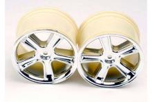 TRAXXAS запчасти Sport Wheels mirror chrome finish Maxx series