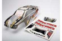 TRAXXAS запчасти Body, Nitro Sport, ProGraphix (replacement for the painted body) Graphics are painted, requires pain