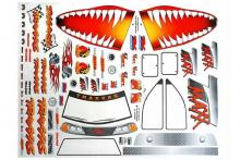 TRAXXAS запчасти Decal sheet, Jaws T-Maxx