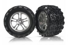 TRAXXAS запчасти Split-Spoke satin-finish wheels + Talon tires