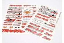 TRAXXAS запчасти Decal set, Revo 3.3 (Revo logos and graphics decal sheet)