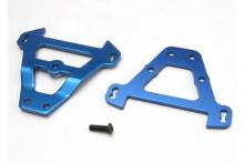 TRAXXAS запчасти Bulkhead tie bars, front & rear (blue-anodized aluminum)