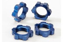 TRAXXAS запчасти Wheel nuts, splined, 17mm (blue-anodized) (4)
