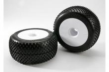 TRAXXAS запчасти White dished 3.8 + response pro tires