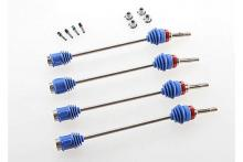 TRAXXAS запчасти Driveshafts, Revo/Maxx (steel constant-velocity)(assembled w/inner & outer dust boots) (for mode