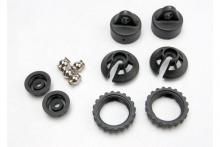 TRAXXAS запчасти Caps and spring retainers, GTR shock (upper cap (2): hollow balls (2): bottom cap (2): upper retaine