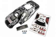 TRAXXAS запчасти Body, Jato 3.3, ProGraphix (replacement for the painted body) Graphics are painted, requires paint &
