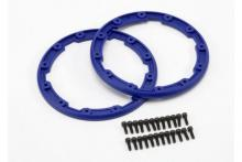 TRAXXAS запчасти Sidewall protector, beadlock style (blue) (2): 2.5x8mm CS (24) (for use with Geode wheels)