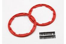 TRAXXAS запчасти Sidewall protector, beadlock style (red) (2): 2.5x8mm CS (24) (for use with Geode wheels)