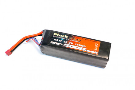 Black Magic 22.2V 5000mAh 90C LiPo Deans Plug