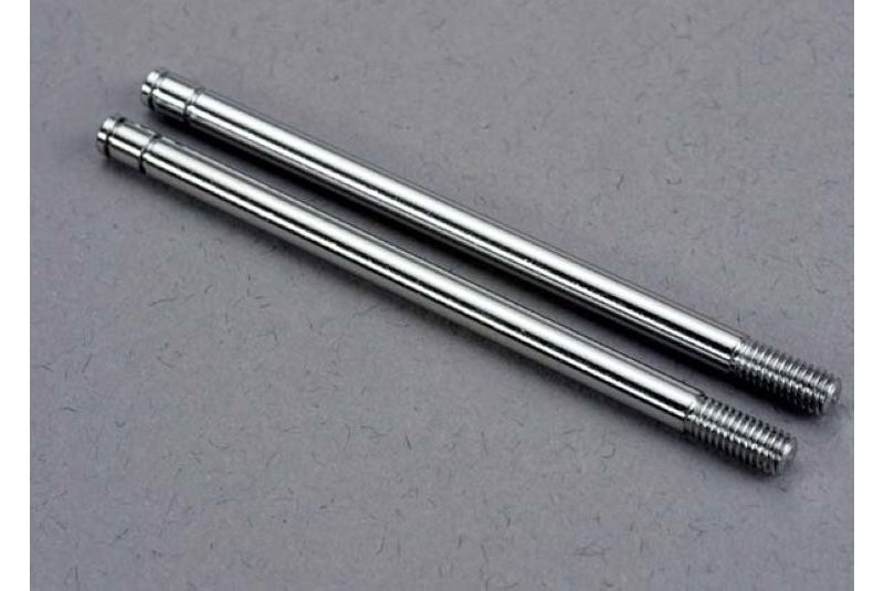 Запчасти для радиоуправляемых моделей Traxxas TRAXXAS Shock shafts, steel, chrome finish (xx-long) (2)