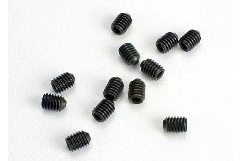 Крепеж для радиоуправляемых моделей TRAXXAS Set (grub) screws, 3mm hardened (12)