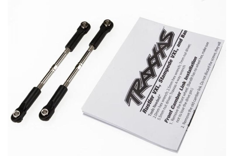 Запчасти для радиоуправляемых моделей Traxxas TRAXXAS Turnbuckles, toe link, 61mm (96mm center to center) (2) (assembled with rod ends and hollow balls) (