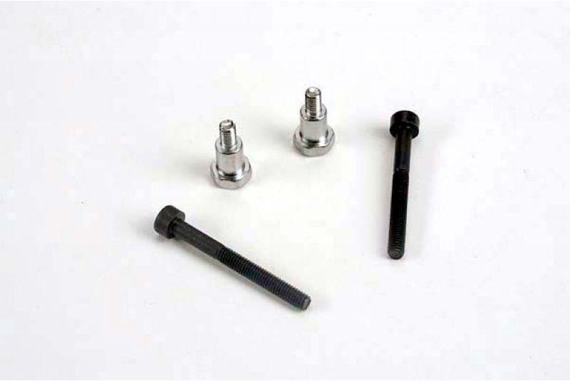 Крепеж для радиоуправляемых моделей TRAXXAS Shoulder screws, steering bellcranks (3x30mm hex cap) (2): draglink shoulder screws (chrome) (2)