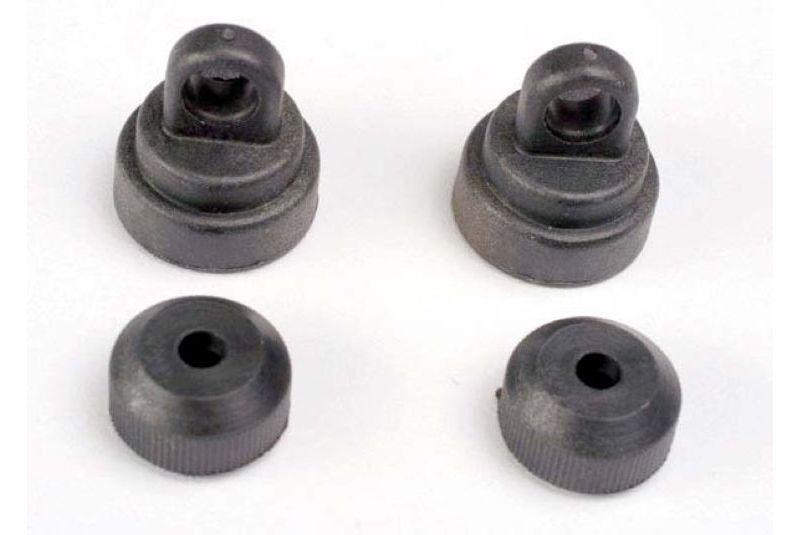 Запчасти для радиоуправляемых моделей Traxxas TRAXXAS Shock caps (2): shock bottoms (2)