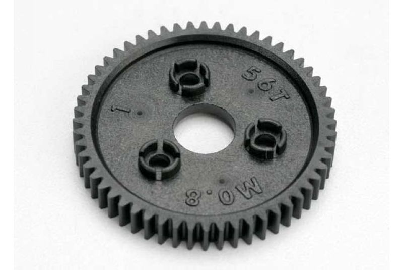 Фото - Запчасти для радиоуправляемых моделей Traxxas TRAXXAS Spur gear, 56-tooth (0.8 metric pitch, compatible with 32-pitch) запчасти для радиоуправляемых моделей traxxas traxxas gear 18 t pinion machined 1 0 metric pitch fits 5mm shaft set screw compatible with steel s