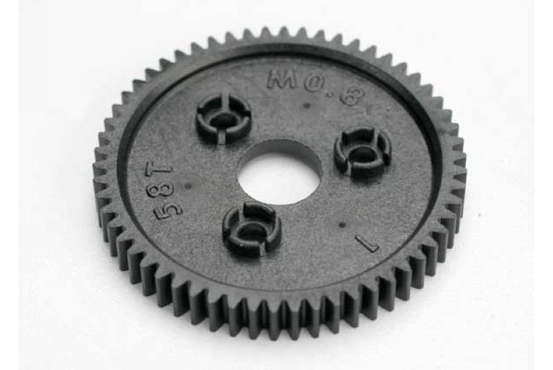 Фото - Запчасти для радиоуправляемых моделей Traxxas TRAXXAS Spur gear, 58-tooth (0.8 metric pitch, compatible with 32-pitch) запчасти для радиоуправляемых моделей traxxas traxxas gear 18 t pinion machined 1 0 metric pitch fits 5mm shaft set screw compatible with steel s