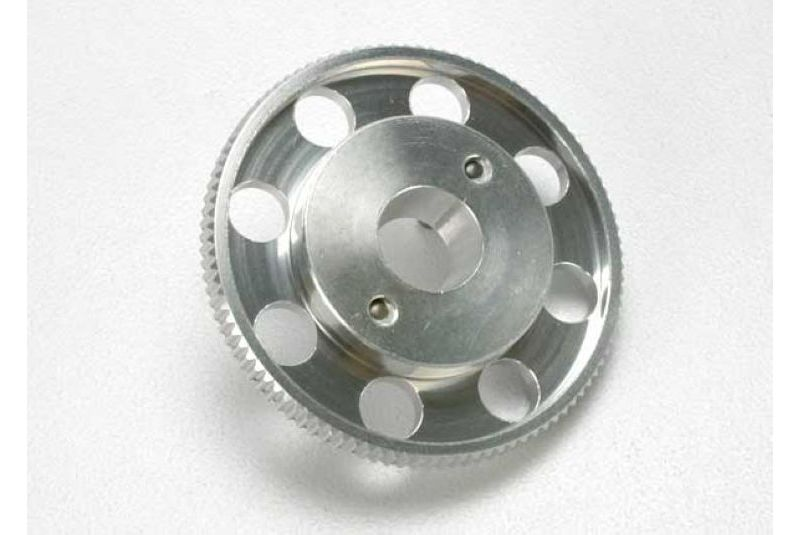 Запчасти для радиоуправляемых моделей Traxxas TRAXXAS Flywheel, (larger, knurled for use with starter boxes) (TRX 2.5 and TRX 2.5R) (silver anodized)