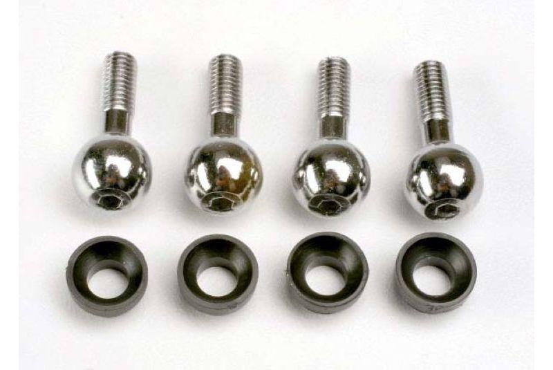 Запчасти для радиоуправляемых моделей Traxxas TRAXXAS Pivot balls (4): pivot ball cap bushings (4)