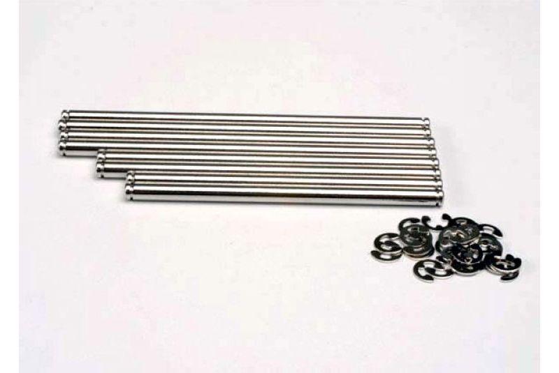 Запчасти для радиоуправляемых моделей Traxxas TRAXXAS Suspension pin set, stainless steel (w: E-clips)